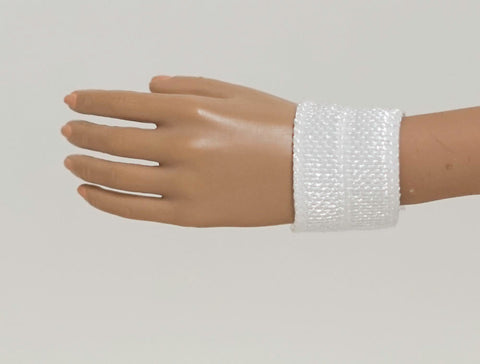 Doll Wrist Cuffs for 1/6 Scale Female Action Figures - White - Doll Clothes - fits Phicen - Hot Toys - Cy Girls - Kumik