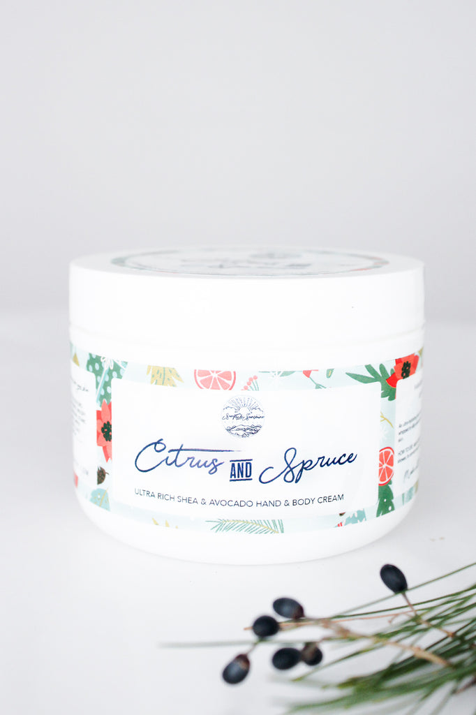 Citrus & Spruce - Shea & Avocado Body Cream