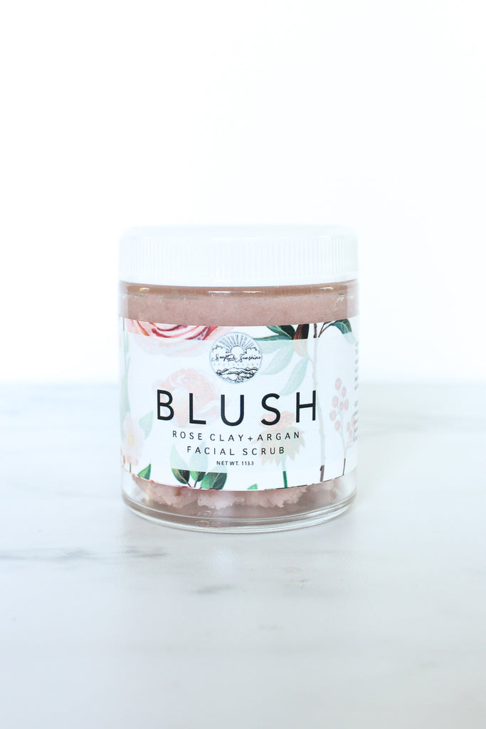 Blush - Rose Clay & Argan Facial Scrub