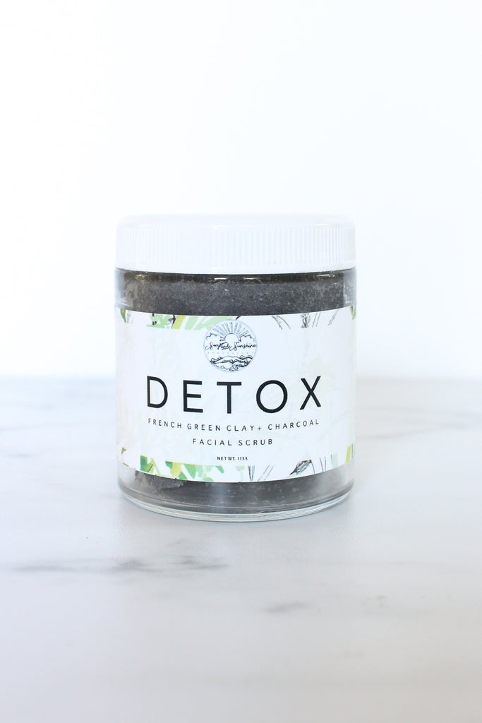 Detox - French Green Clay & Activated Charcoal Facial Scrub