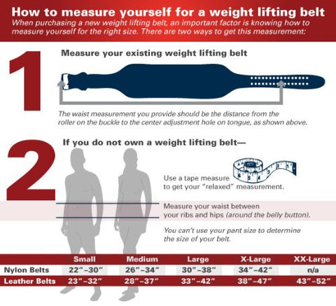 Harbinger Classic Oiled Leather Fitness Belt Size Chart
