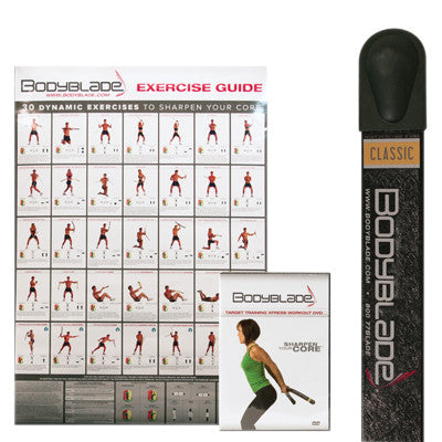 Bodyblade® Classic with Wall Chart and Instructional Video-Black - PTconnect