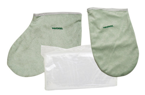 WaxWel® Paraffin Bath - Accessory Package - 50 Liners, 1 Mitt and 1 Bootie - PTdunrite