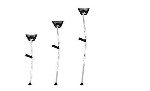 Mobilegs Ultra Ergonomic Deluxe Crutches with Adjustable Height- 1 Pair
