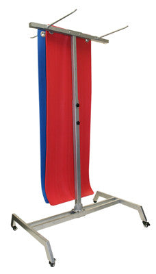 CanDo Floor Exercise Mat Rack with Casters - Holds 30 Mats - PTconnect