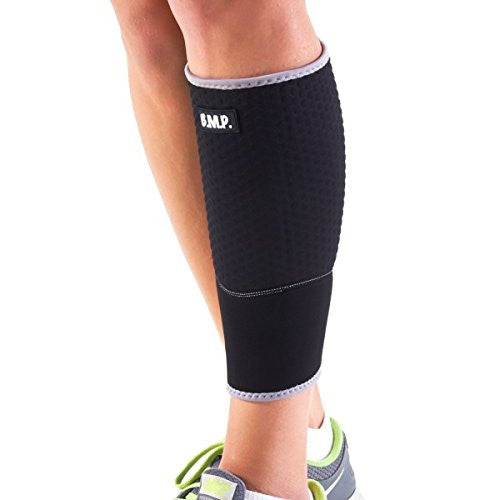 BMP Lightweight and Breathable Black Calf Brace & Compression Sleeve