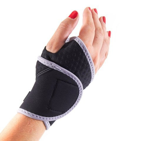BMP Lightweight and Breathable Neoprene Black Wrist Brace & Compression Sleeve