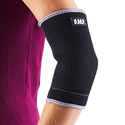 BMP Breathable Neoprene Black Elbow Brace & Compression Sleeve