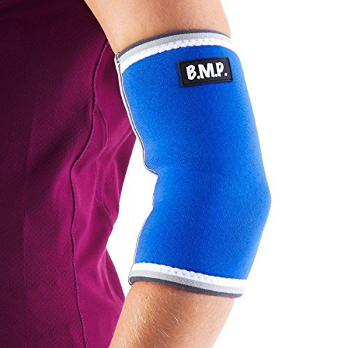 BMP Extra Thick Warming Blue Elbow Brace & Compression Sleeve