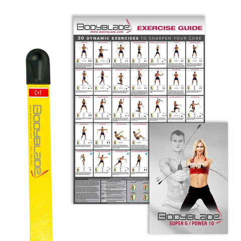Bodyblade® CXT with Wall Chart and Instructional Video-Yellow - PTconnect
