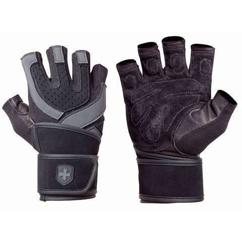 Harbinger Men's Training Grip WristWrap Gloves - PTdunrite - 1