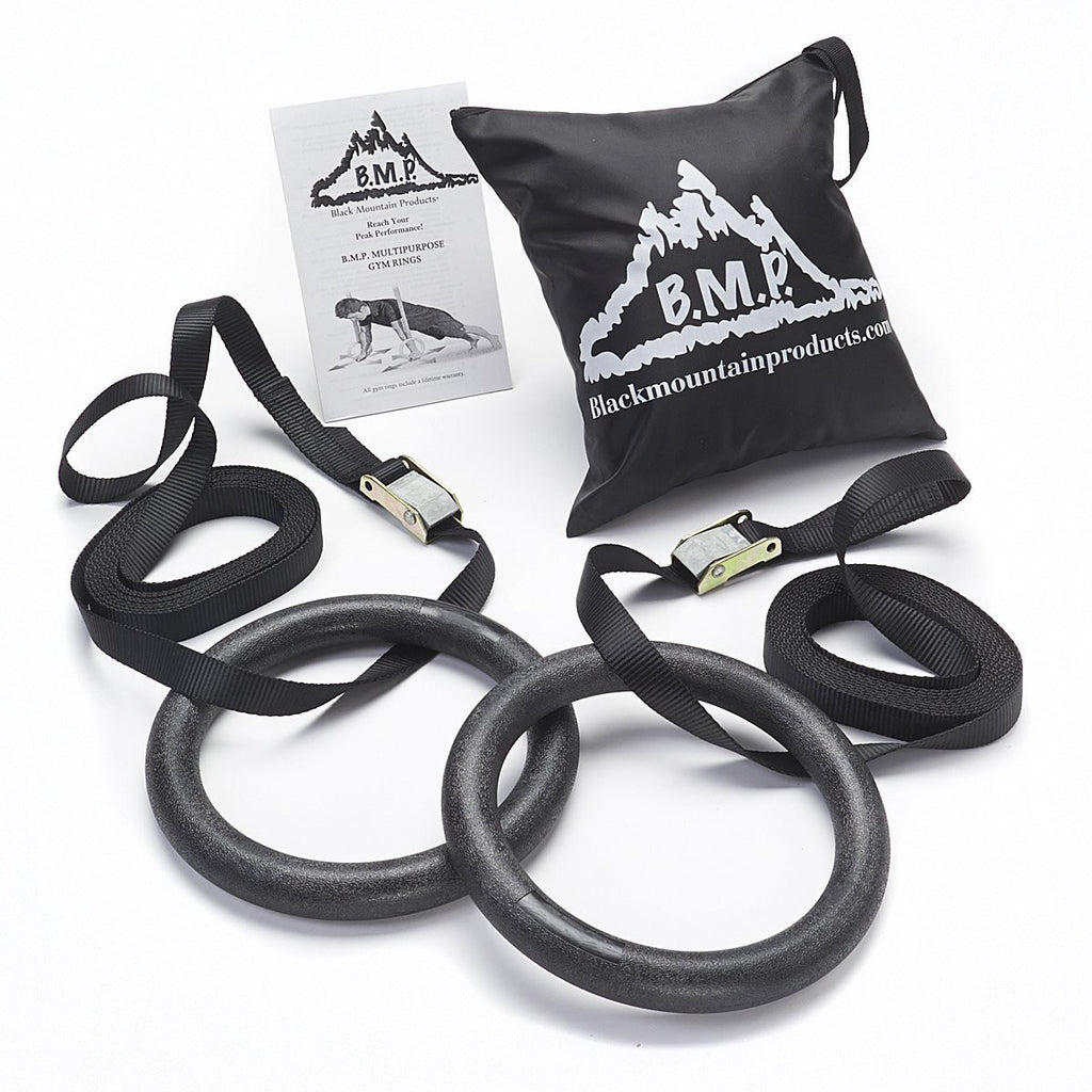 BMP Multi-Use Exercise Gymnastics Rings - 1200lbs Rated