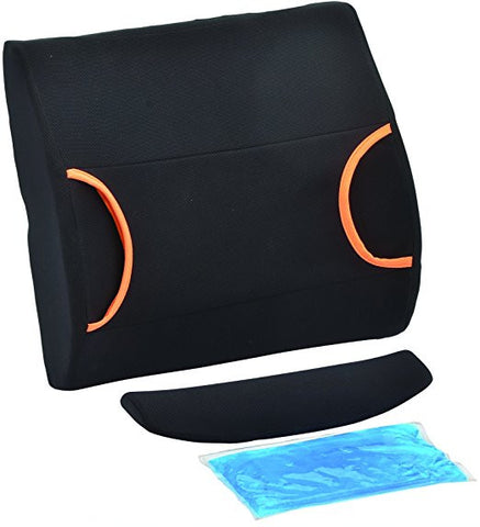 NOVA Medical Back Cushion with Hot and Cold Pack - Black