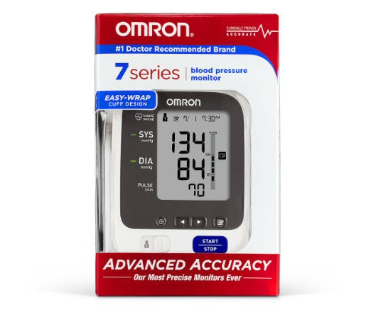 Omron 7 Series Upper Arm Blood Pressure Monitor with Wide-Range ComFit Cuff - PTdunrite - 2