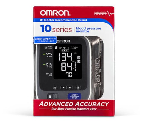 Omron 10 Series Upper Arm Blood Pressure Monitor with Wide-Range ComFit Cuff - PTdunrite - 2