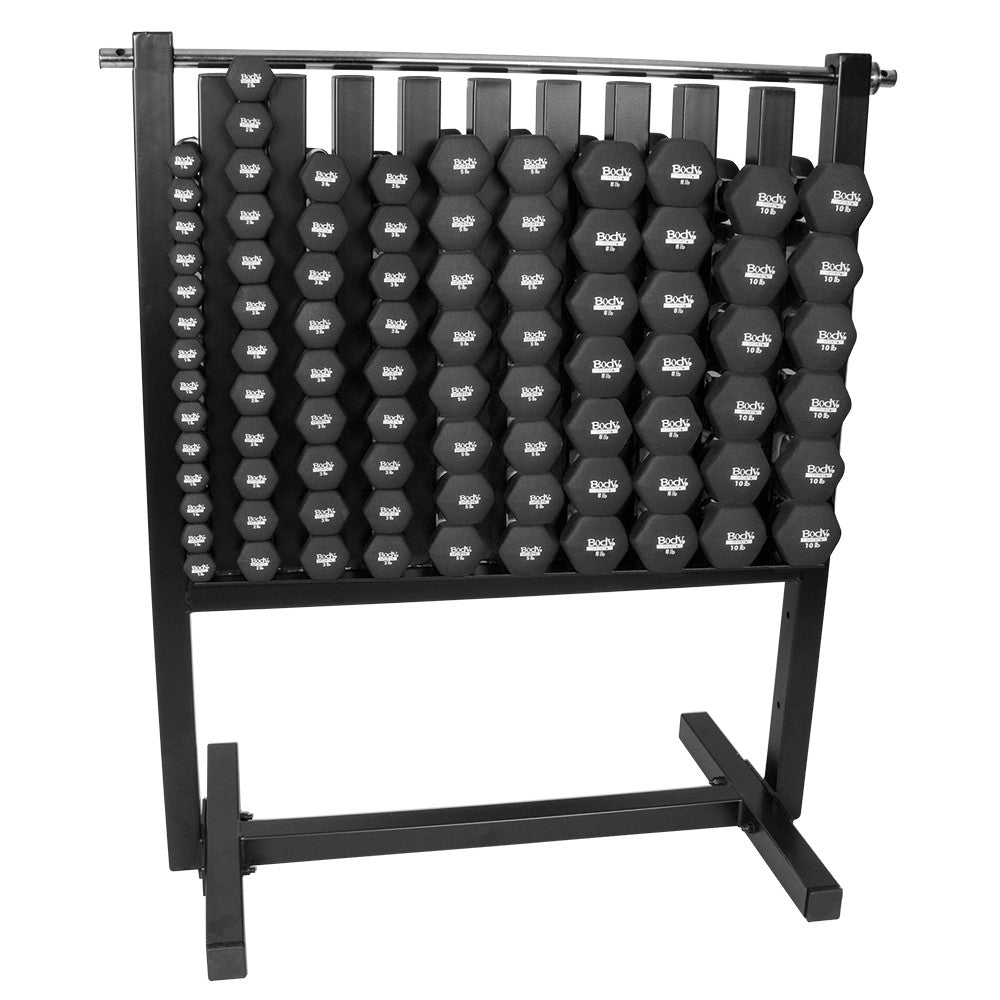 Body Sport Neoprene Dumbbells Full Set w/ Rack - PTconnect