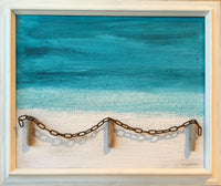 "ORIGINAL ""Sanibel"" Beach in 23"" x 19"" Vintage Frame"