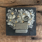 Small Beach Glass Daisies on Salvage Wood