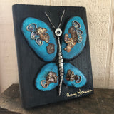 Stone Butterfly on Salvage Wood