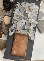 Copy of Beach Glass Flowers on Salvage Wood