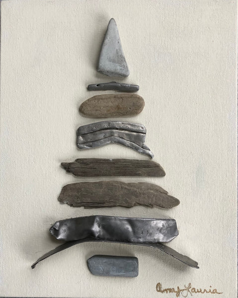 Driftwood and Metal Tree - Unframed