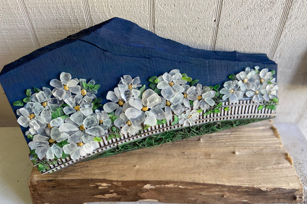 Wild Daisies on Salvaged Wood