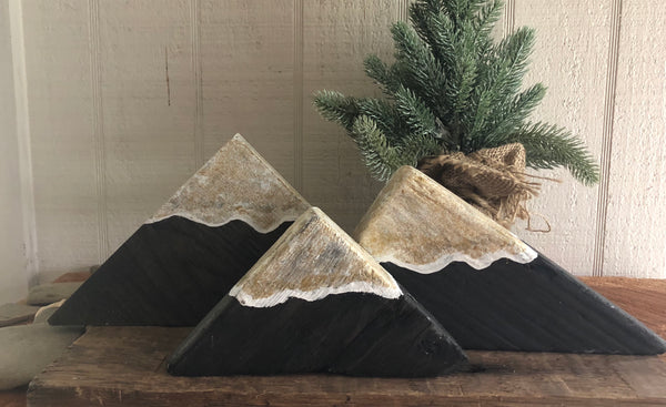 Driftwood Mountains on Salvage Wood