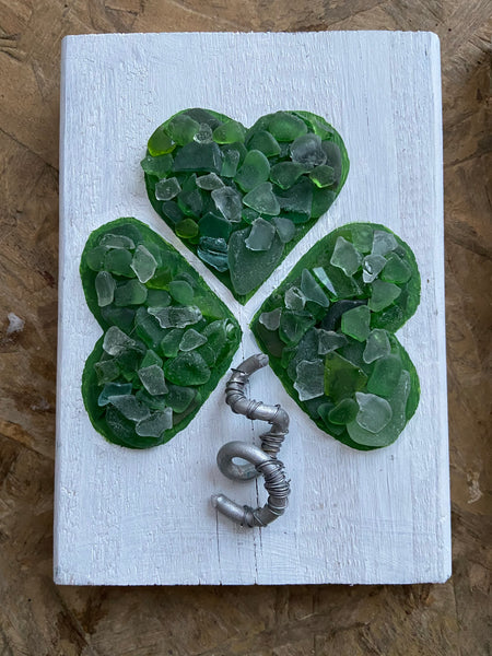 Green Beach Glass Shamrock