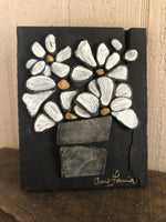 Stone Daisies on Salvage Wood