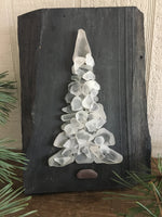 "White Beach Glass Tree 6 1/2"" x 9"""