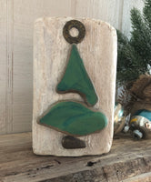 Petite Stone Tree on Salvage Wood