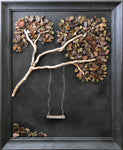 """Free Fall"" Tree in Vintage Frame"