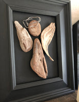 Driftwood Angel in 8x10 Vintage Frame