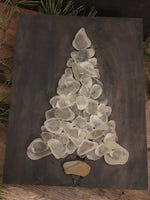 Chunky White Beach Glass Tree