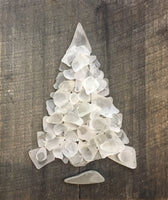 White Glass Tree on Charcoal Gray Washed Salvage Wood