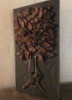 Fall Tree on Salvage Wood