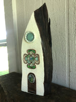 White Chapel on Salvage Wood