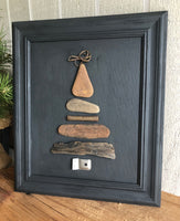 Driftwood and Metal Tree in Vintage Frame