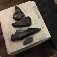 Stone Tree Trio on Salvage Wood