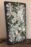 """Crazy Daisies"" Beach Glass Daisies on Driftwood"