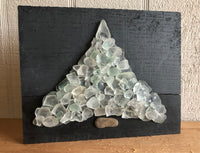 White Beach Glass Tree on Salvaged Barn Wood