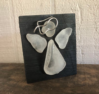 Beach Glass Angel on Salvage Wood