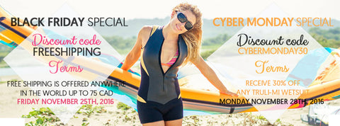 Black Friday and Cyber Monday sale by Truli Wetsuits