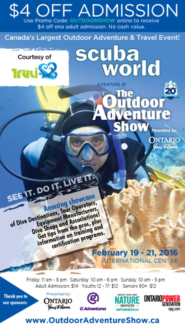 Outdoor Adventure Show - Toronto - Truli Wetsuits Admission Coupon