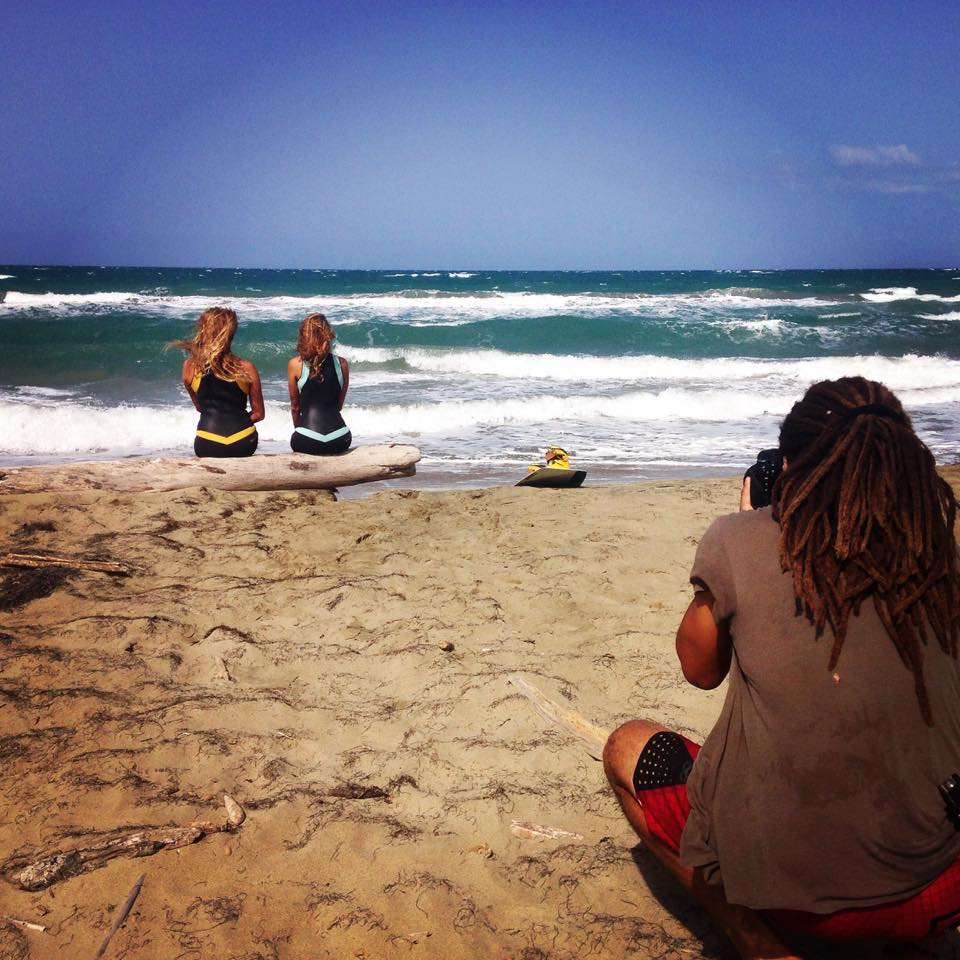 Sexy women's wetsuit photo shoot in The Dominican Republic with Bianca Forzano and Taylor Swanson and photographer Genesis Reyes by Truli Wetsuits