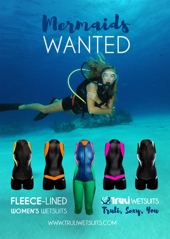 Truli Wetsuits advertisement in the official magazine for Britain's biggest scuba diving club.