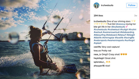 Truli Wetsuits on Instagram featuring Truli Girl Cesca Peirce