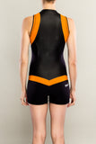 Sexy women's wetsuit shorty back by Truli Wetsuits