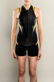 Sexy women's wetsuit shorty front zipper by Truli Wetsuits