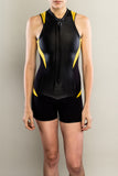 Sexy women's wetsuit shorty front by Truli Wetsuits